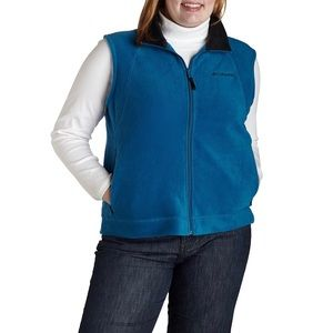 Columbia Blue Sapphire Sky Full Zip Fleece Vest XL
